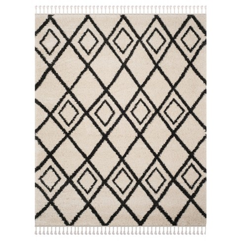 Cream Charcoal Geometric Loomed Area Rug 8 X10 Safavieh
