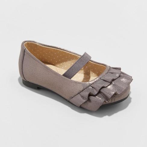 374bc68975c Toddler Girls  Mabelle Metallic Ballet Flats - Cat   Jack™ Pewter 6 ...