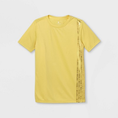 Boys' Short Sleeve 'Everything Is Possible' Graphic T-Shirt - All in Motion™ Yellow