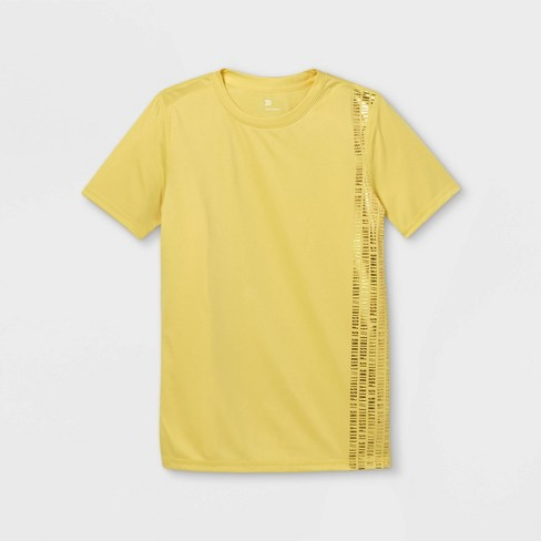 Boys' Short Sleeve 'Everything Is Possible' Graphic T-Shirt - All in Motion™ Yellow - image 1 of 2