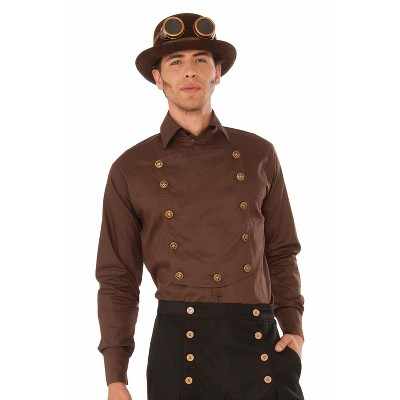 Forum Novelties Steampunk Shirt Adult Costume (Brown)