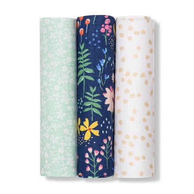 Muslin Swaddle Blanket Wildflower 3pk - Cloud Island™ Floral