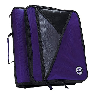 Case-it Universal Laptop Zipper Binder, O-Ring, 2 Inches, Purple