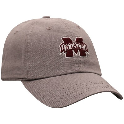 NCAA Mississippi State Bulldogs Men's Gray Garment Washed Canvas Hat
