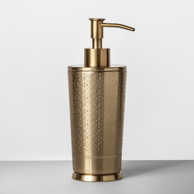 Gold Etched Metal Soap/Lotion Dispenser - Opalhouse™