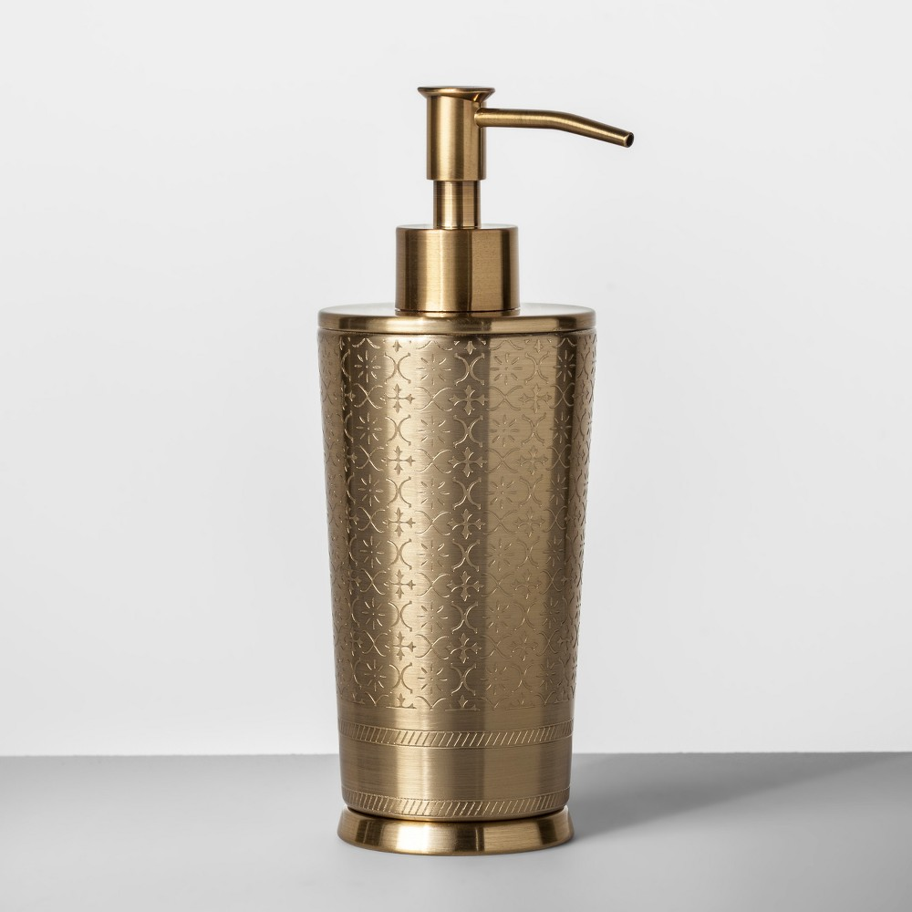 Gold Etched Metal Soap/Lotion Dispenser Gold - Opalhouse