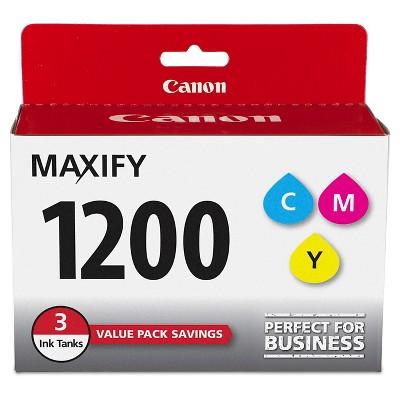 Canon 1200 Single & 3pk Ink Cartridges - Black, Multicolor