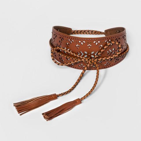 Women's Festival Web Belt - Universal Thread™ Tan - image 1 of 2