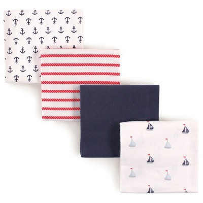 Luvable Friends Baby Boy Cotton Flannel Receiving Blankets, Sailboat, One Size