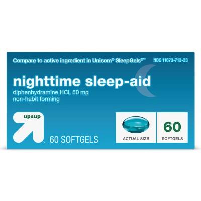 Diphenhydramine HCl Maximum Strength Nighttime Sleep Aid Softgels - up & up™