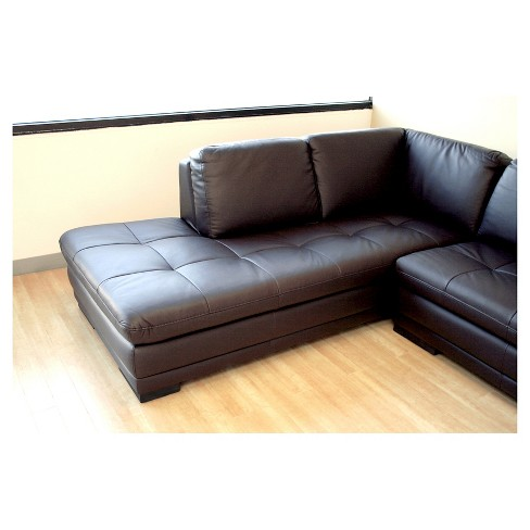 Diana Sofa Chaise Sectional Reverse Dark Brown Baxton Studio Target