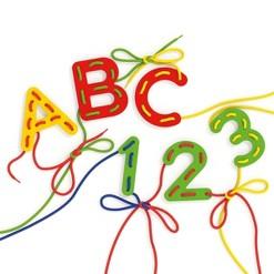 Quercetti Play Montessori Lacing ABC+123