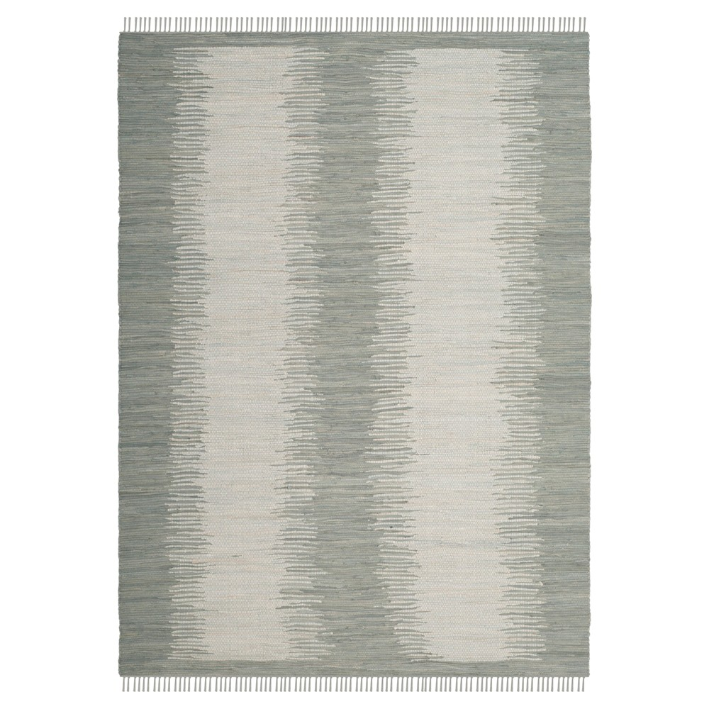 Gray Geometric Flatweave Woven Area Rug 8'X10' - Safavieh