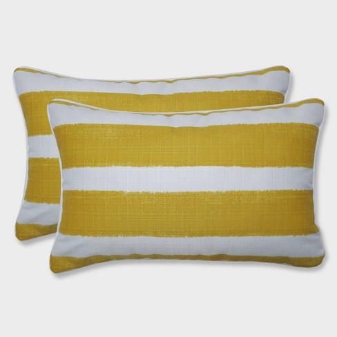 2pk Nico Pineapple Rectangular Throw Pillows Yellow - Pillow Perfect - image 1 of 1