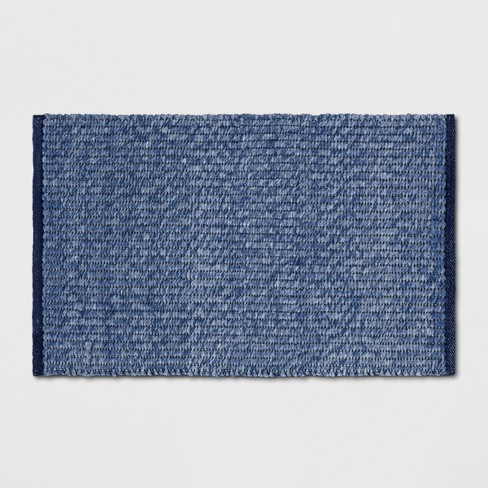 2'X3' Woven Ikat Design Accent Rug Dark Chambray - Threshold™ - image 1 of 3