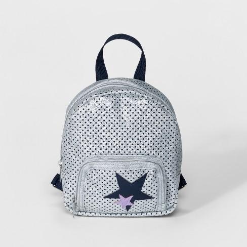 643f86e393 Girls  Star Mini Backpack - Cat   Jack™ Silver   Target