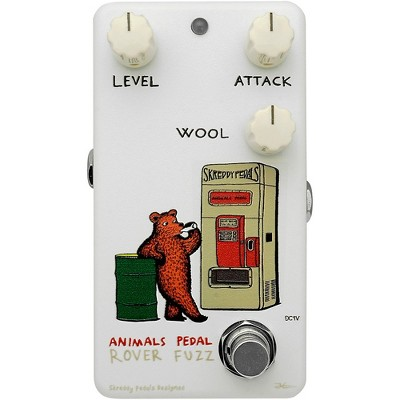 Animals Pedal Rover Fuzz V2 Effects Pedal White