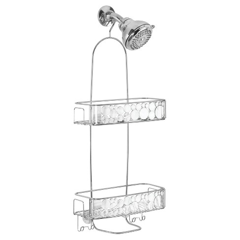 Bathroom Shower Caddy Extra Long Clear/Silver - InterDesign - image 1 of 3