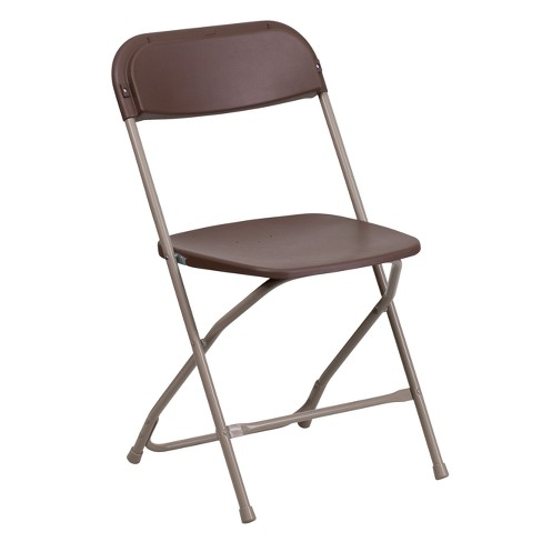 Riverstone Furniture Collection Plastic Folding Chair Brown - image 1 of 4