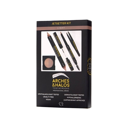 Arches & Halos Jetsetter Brow Kit Light - 6pc - image 1 of 4