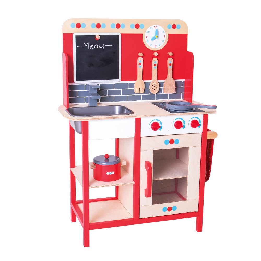 Bigjigs Toys Play Kitchen Wooden Role Play Toy