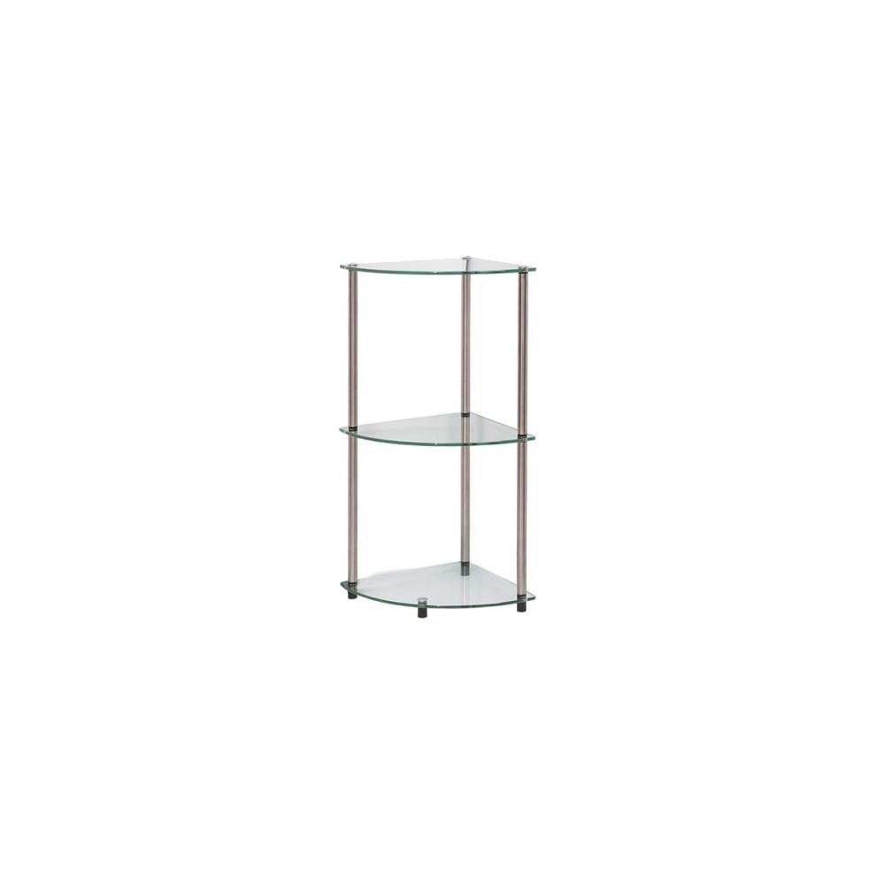 Image of 31.5 3 Tier Glass Corner Shelf - Convenience Concepts