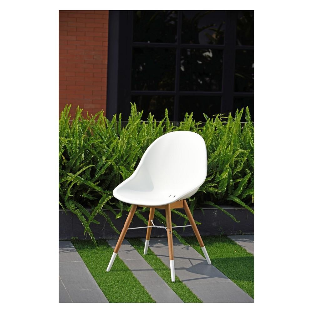 Image of 2pc Metz Eucalyptus Patio Dining Chair Set Teak Finish - Amazonia, Brown