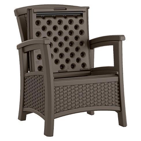 Suncast Elements Resin Patio Storage Club Chair