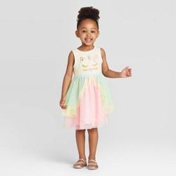 Toddler Girls' Tank Top Kitty Tutu Dress - Cat & Jack™ Pink
