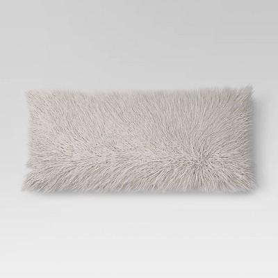 Faux Fur Body Pillow Gray - Opalhouse™