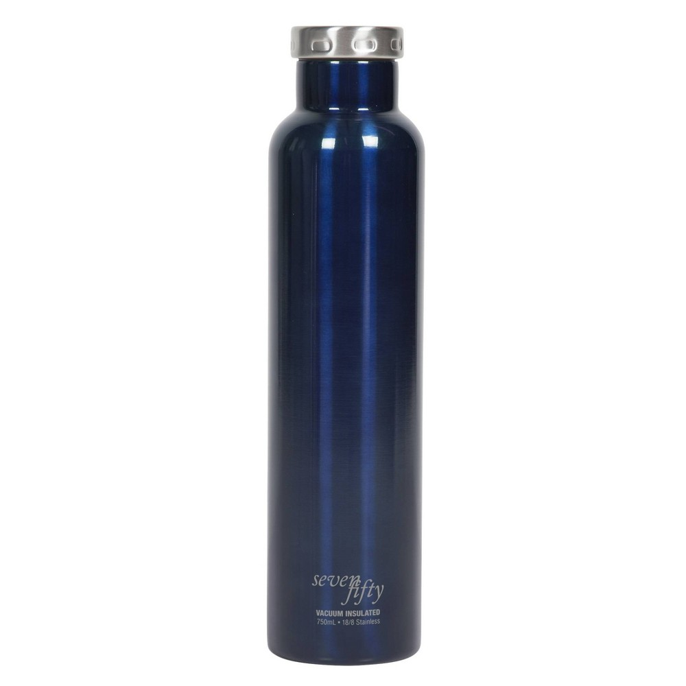 Image of Seven/Fifty 750ml Wine Growler Gloss Blue
