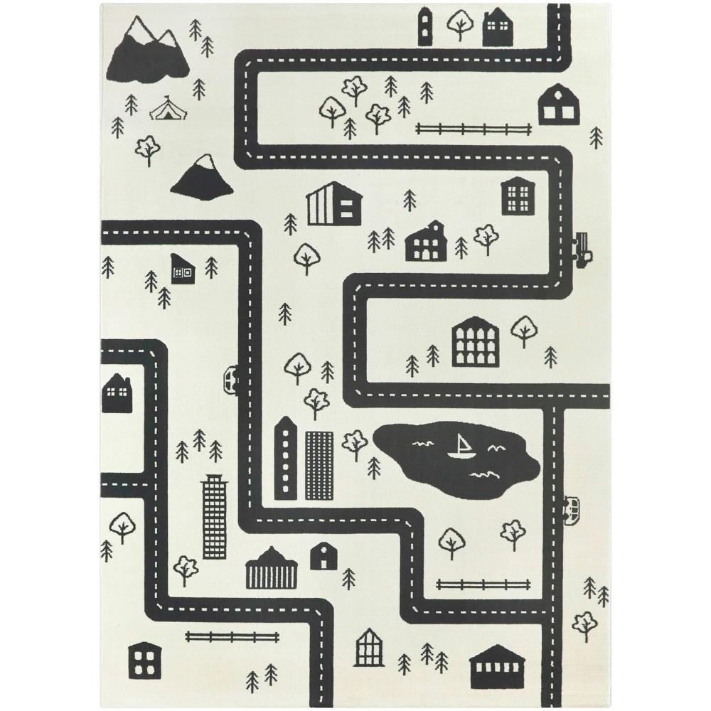 4 39 1 34 X5 39 6 34 Roadmap Black White Rug Balta Rugs