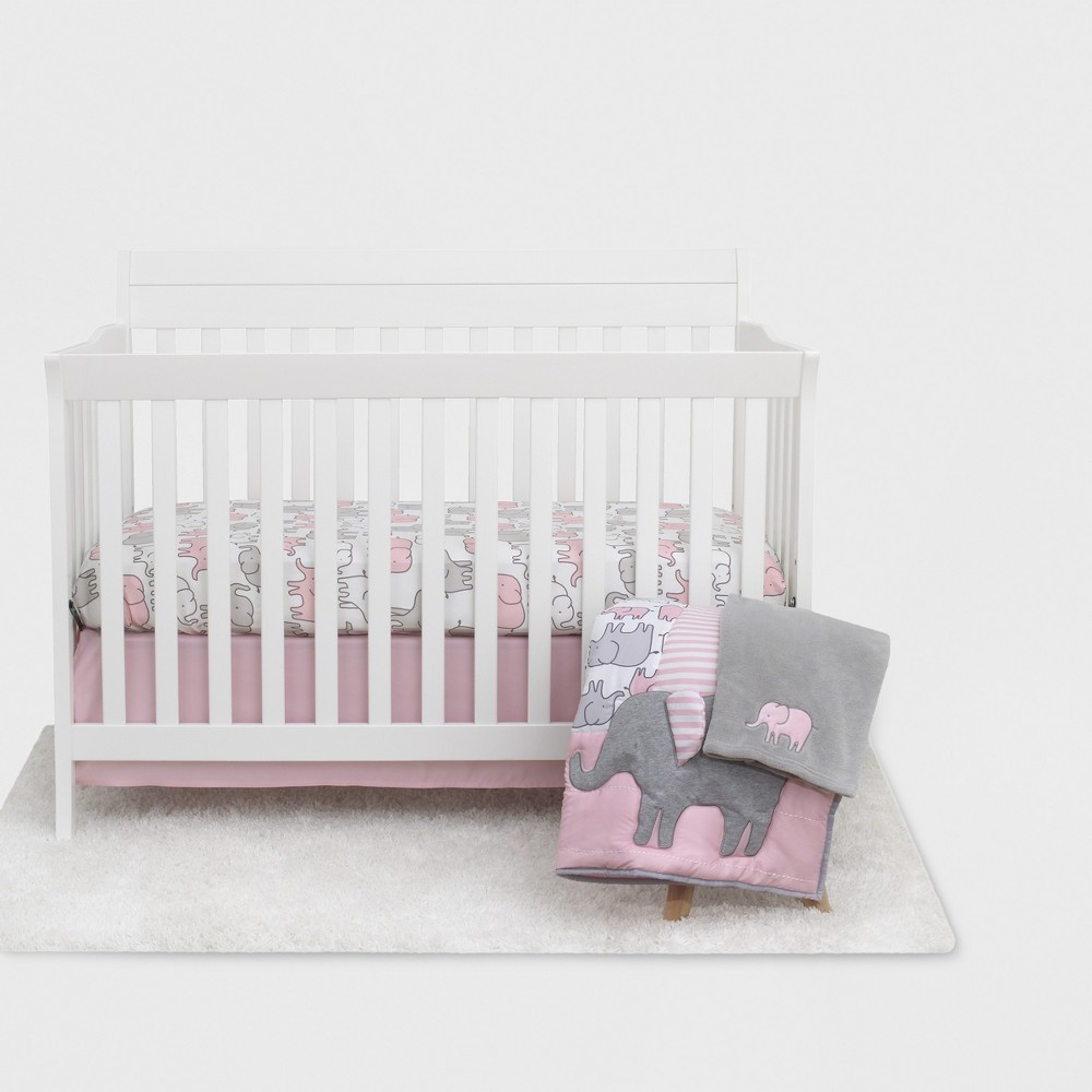 Carter's Just One You Elephant Crib Bedding Set 4pc - Pink
