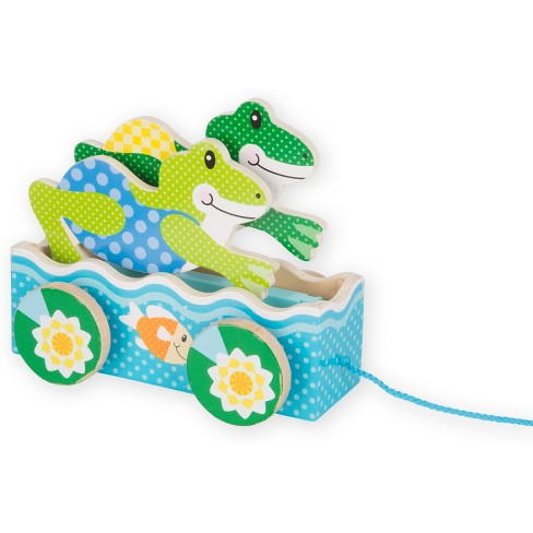 Melissa & Doug First Play Friendly Frogs Wooden Pull Toy - image 1 of 5