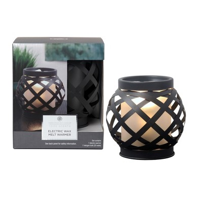 9  Electric Warmer Woven Metal With Frosted Glass - Home Scents By Chesapeake Bay Candle