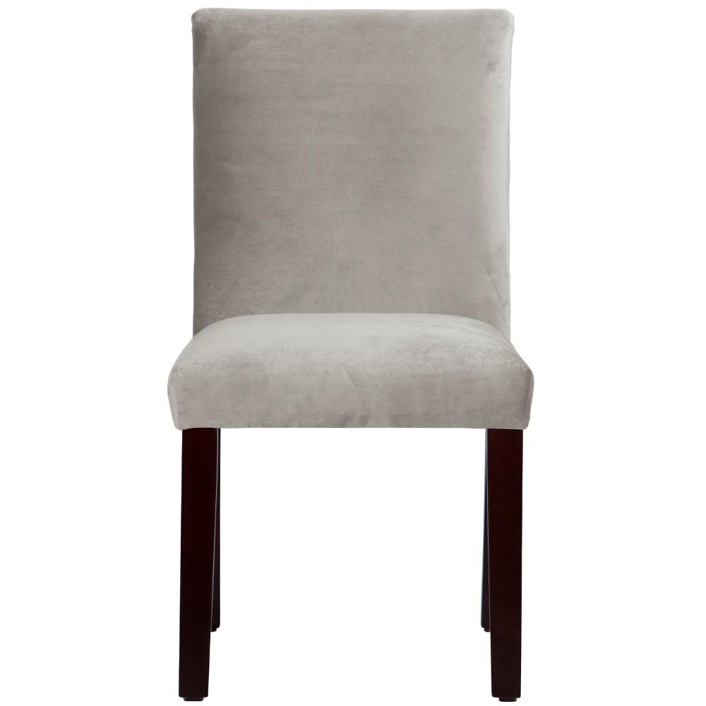 Velvet Parsons Dining Chair Medium Gray Velvet - Threshold