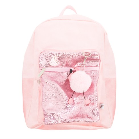 "Yoobi™ Yoobi? 17"" Standard Backpack 2.0 with Pom Pom Keychain - Velvet/Flamingo - image 1 of 4"