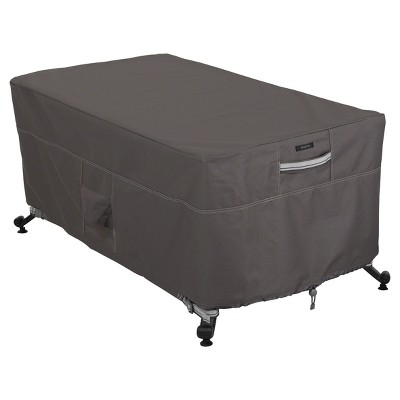 Ravena Fire Pit Table Cover - Dark Taupe - Classic Accessories