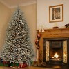 7ft National Christmas Tree Company Pre-Lit Dunhill Blue Fir Hinged Full Artificial Christmas Tree with Clear Lights - image 2 of 3
