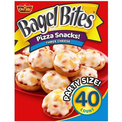 Ore-Ida Bagel Bites Three Cheese Frozen Pizza Snacks - 40ct - image 1 of 4