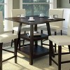 """Bistro 36"""" Counter Height Dining Table with Shelves Wood/Cappuccino - CorLiving - image 4 of 4"""