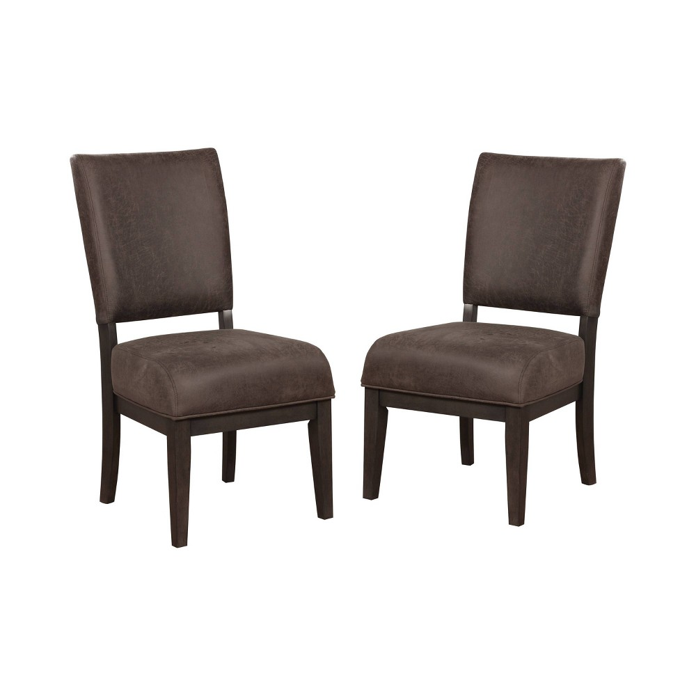 Set of 2 Rexford Cushioned Wood Dining Side Chair Brown/Espresso - ioHOMES, Brown Espresso