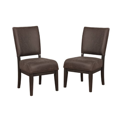 Set of 2 Rexford Cushioned Wood Dining Side Chair Brown/Espresso - ioHOMES - image 1 of 3