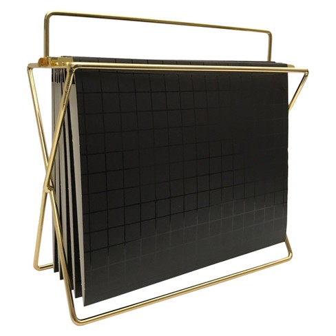 Hanging File Holder with Folders Gold/Black Grid - Project 62™ - image 1 of 4