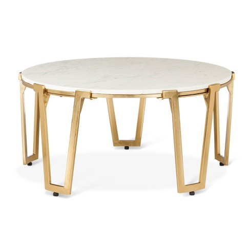 Br And Marble Coffee Table Nate Berkus