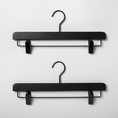 2pk Wood Pants Hanger Black - Made By Design™