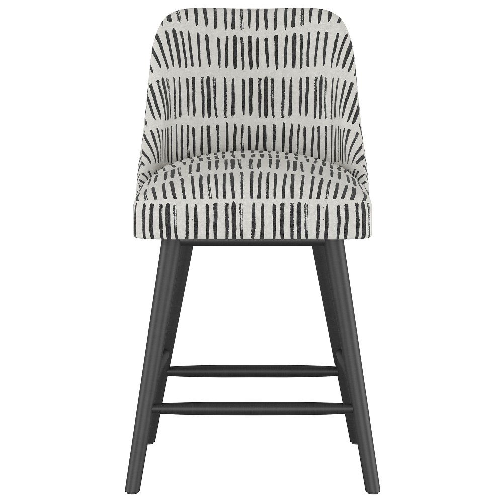 25 Geller Modern Counter Stool White with Black Legs - Project 62