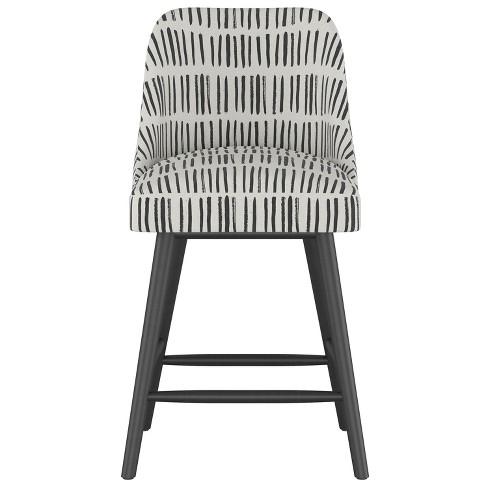 Outstanding 27 Geller Modern Counter Stool White With Black Legs Project 62 Uwap Interior Chair Design Uwaporg