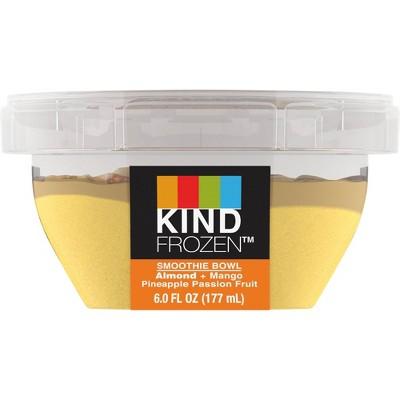 Kind Frozen Smoothie Bowl Almond Mango Pineapple Passion Fruit - 6oz