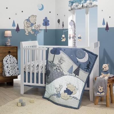 Lambs & Ivy Disney Baby Nursery Crib Bedding Set - Forever Pooh 3pc